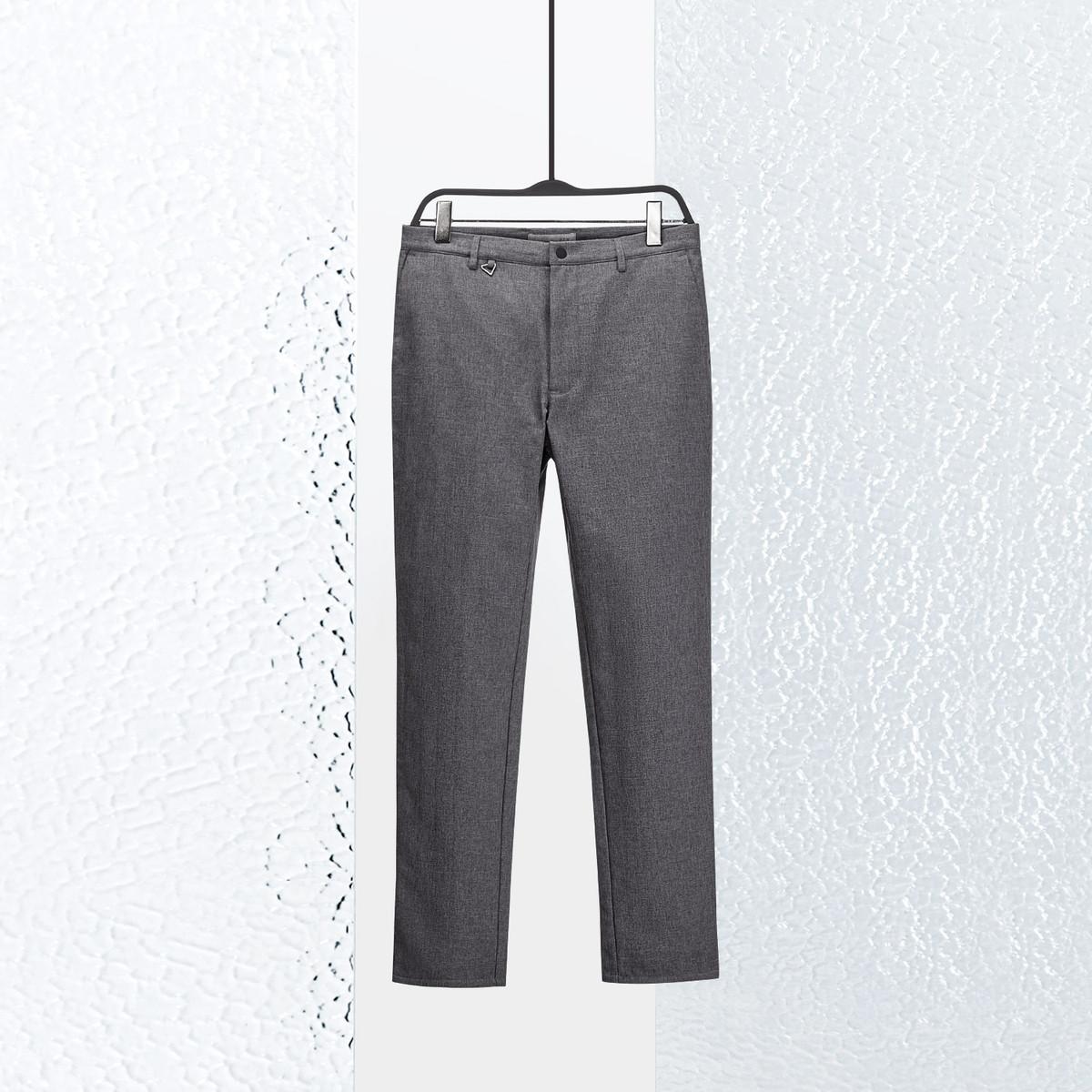 AEXAEX男装冬季热卖男士加绒加厚保暖舒适合身休闲裤KKCAJ48045A80