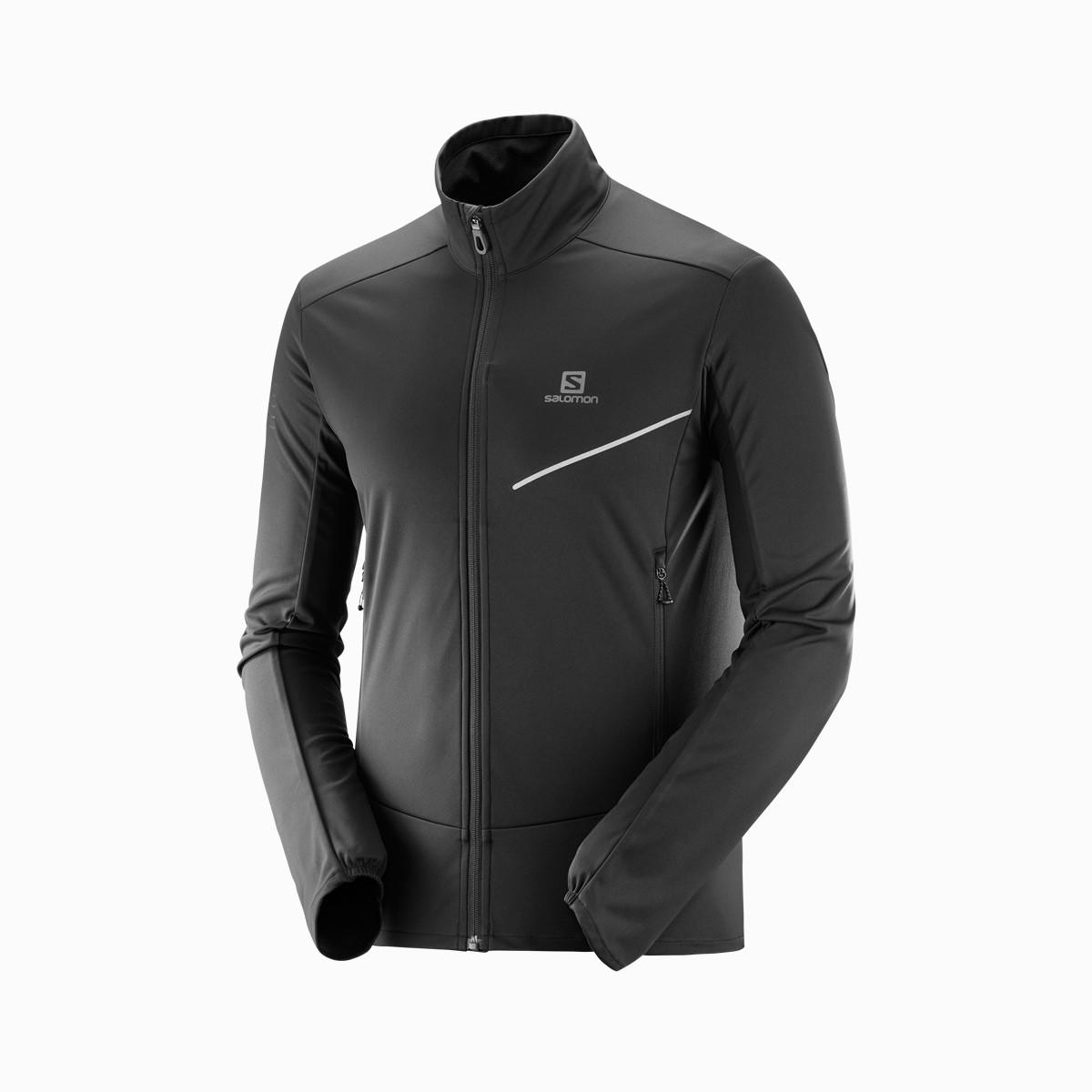 萨洛蒙保暖舒适 时尚男款软壳茄克 RS SOFTSHELL 黑色LC1161100
