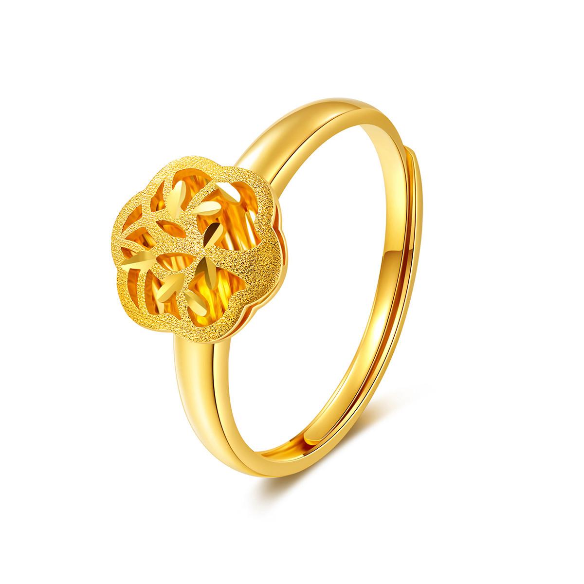 金至尊金至尊 5G黄金幸福树戒指足金镂空花型指环女款3DJZ0082QJ