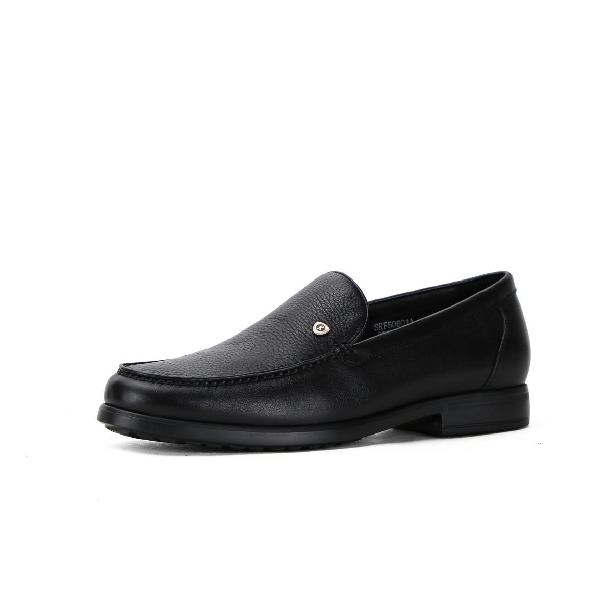 诺贝达软牛皮配鹿皮商务休闲一脚蹬男鞋男士皮鞋SRF50601A