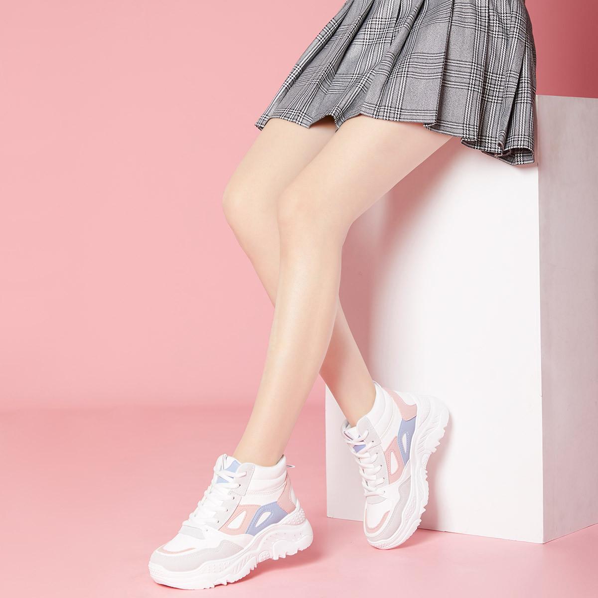 图思龙2019新款时尚运动休闲潮靴女士高帮鞋女短靴女鞋5735B831