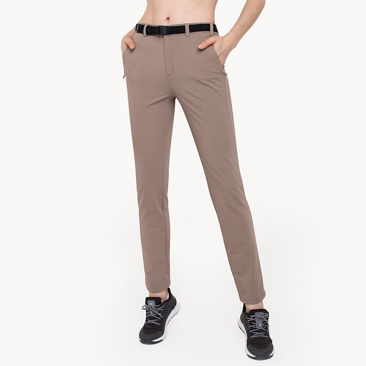 KOLON SPORT可隆裤子秋新款户外柔软透气运动休闲裤女子火山岩长裤LKLP9AN410-BE