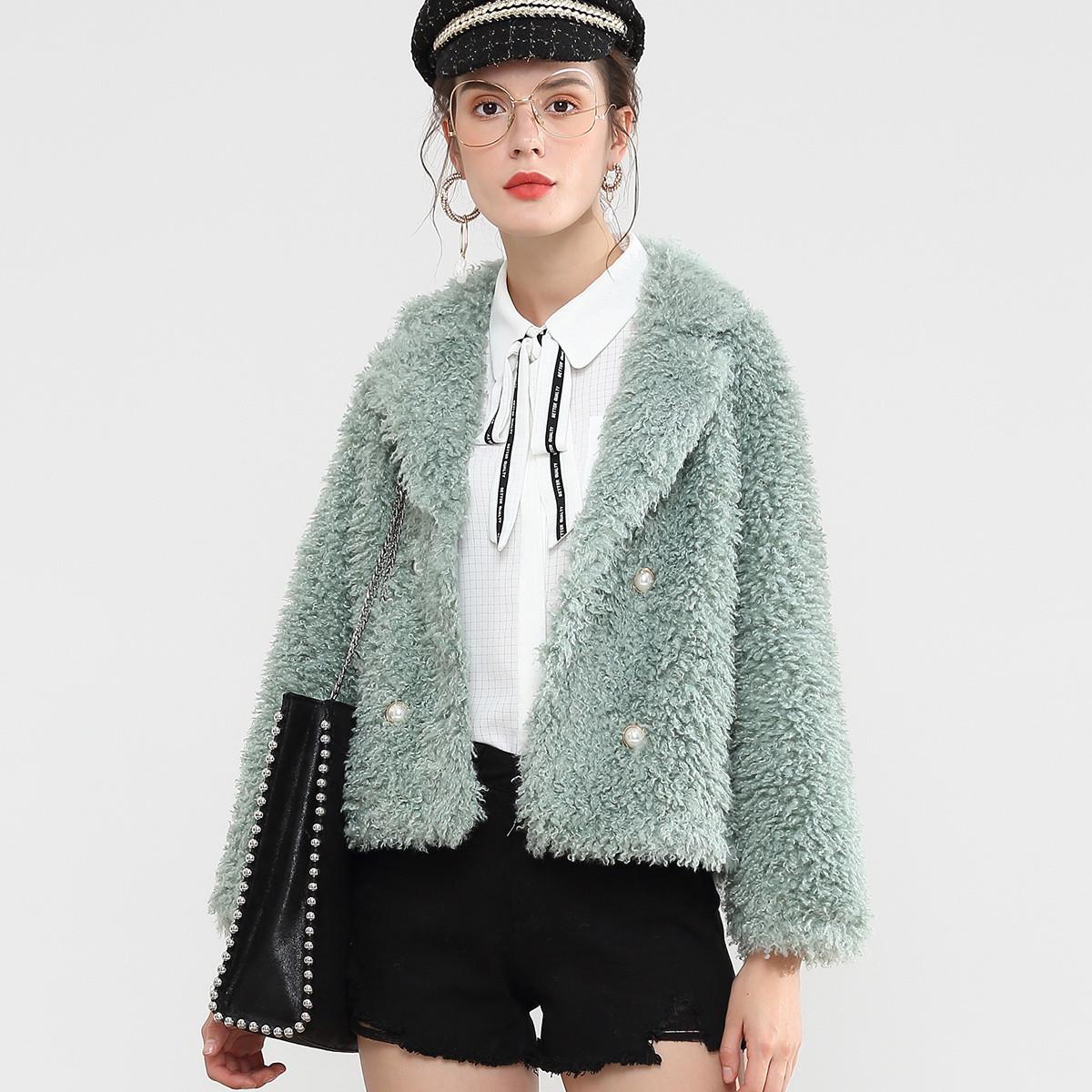 DONEED新款韩版优雅女人味网红款仿羊羔毛泰迪绒皮毛一体外套D194ZW7641070