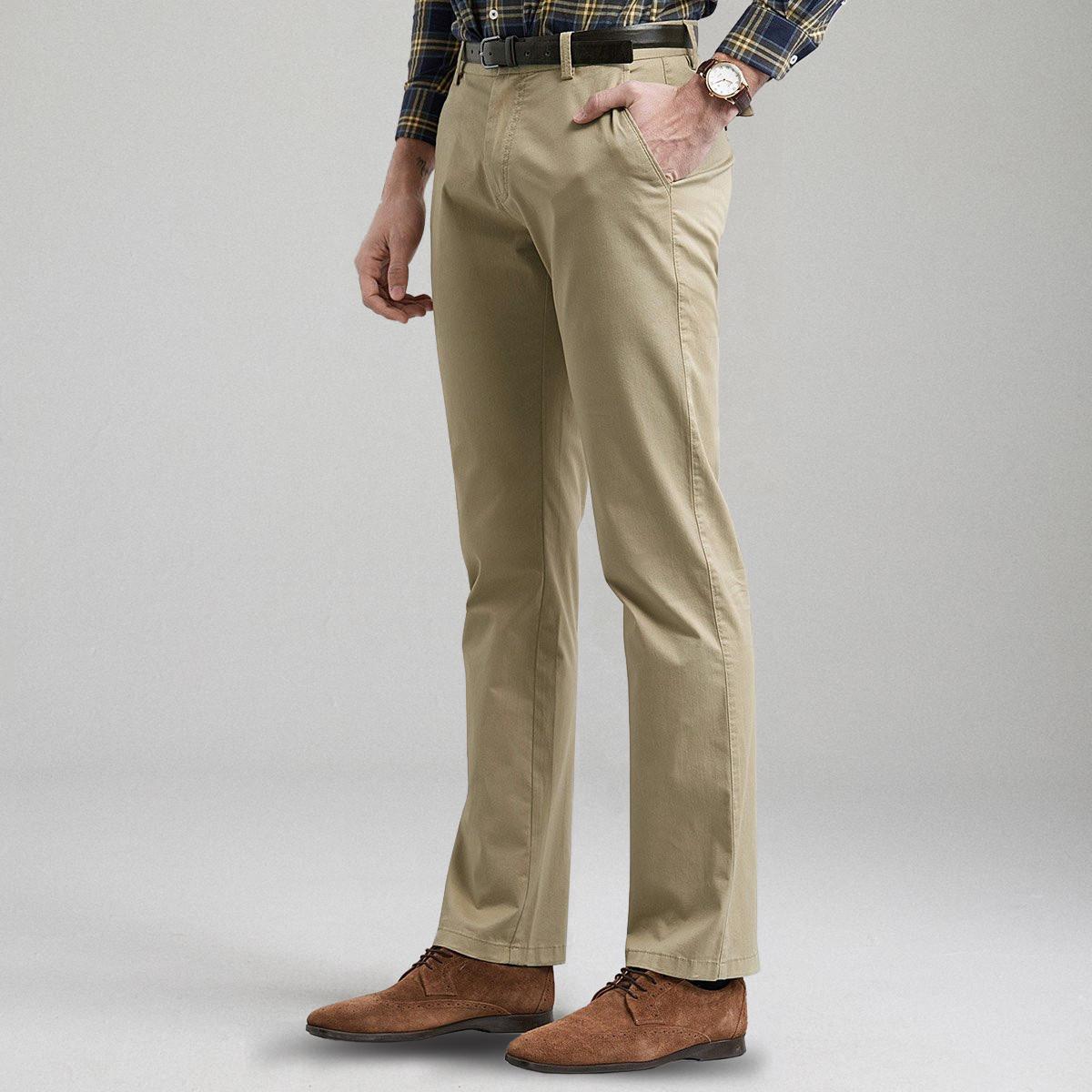 都蒂.阿格纳新款商务百搭微弹舒适透气修身男士休闲裤直筒裤20719097501