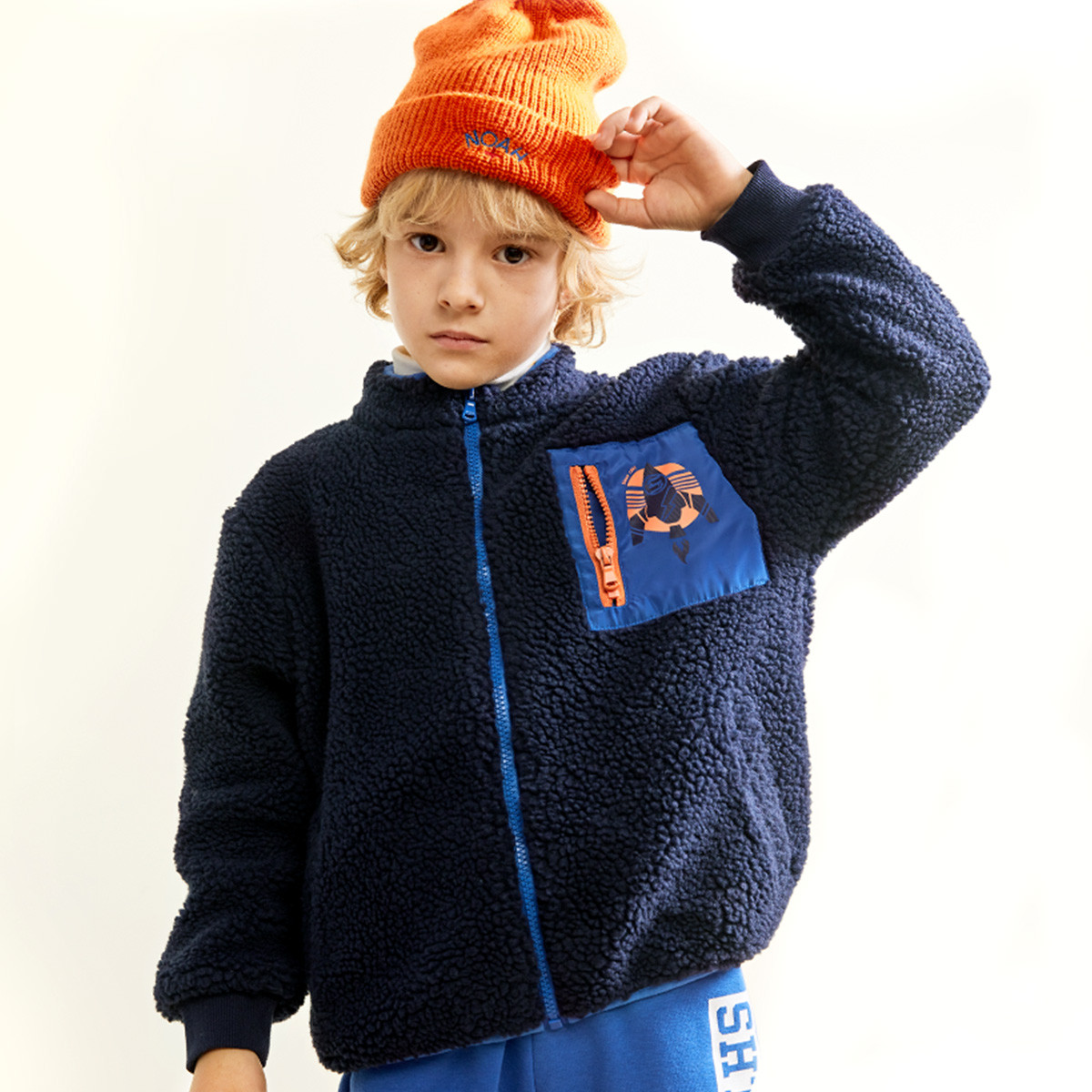 水孩儿水孩儿童装秋冬装新款男童时尚开身外套SHNDBD35CC718B09