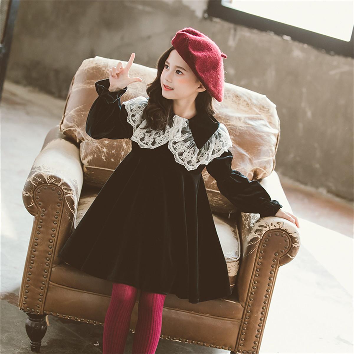dme·kids德玛纳童装20春新款女童儿童裙子公主裙蕾丝拼接连衣裙Q534451525094902