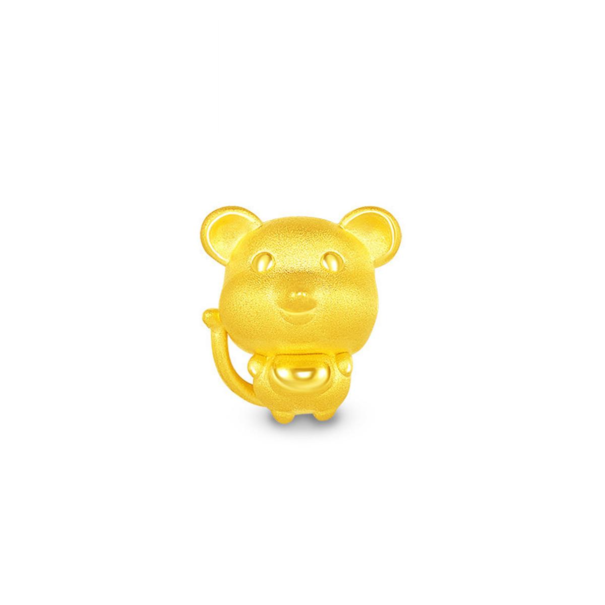 潮宏基潮宏基十二生肖黄金串珠足金转运珠3D硬金SHG30000431