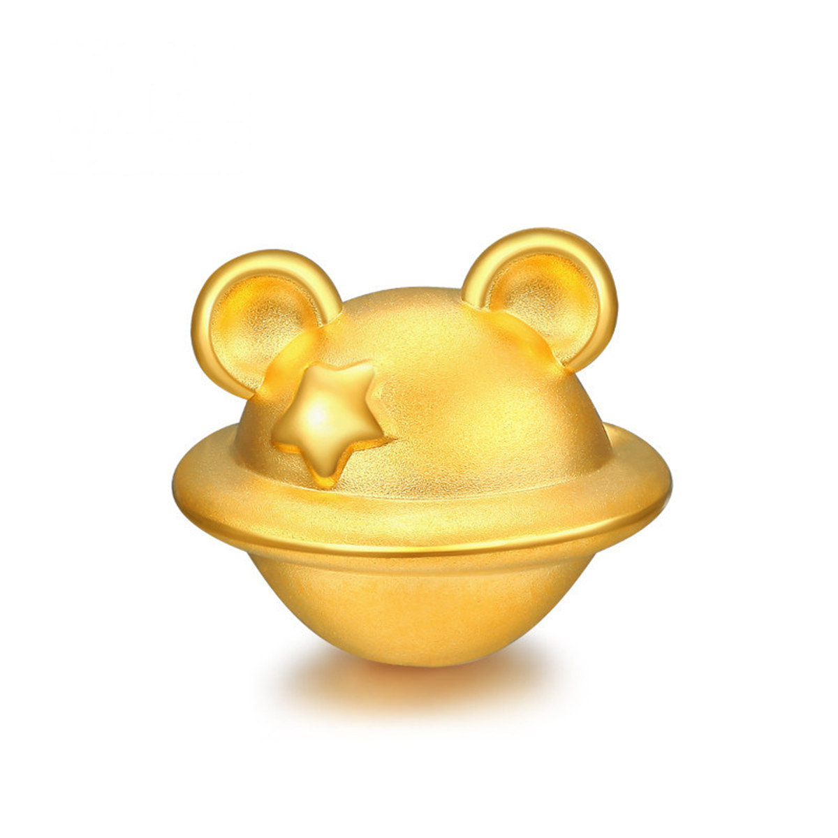 潮宏基超鼠英雄-鼠星星足金串珠黄金转运珠SHG30000397