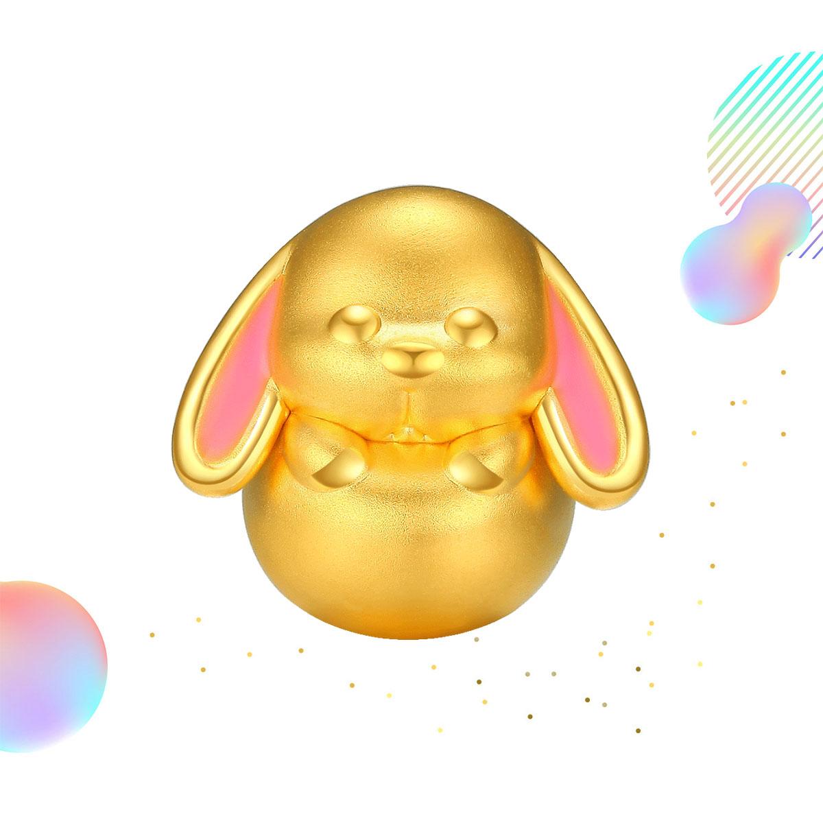 潮宏基潮宏基 兔宝宝 黄金串珠转运珠YPSHG30000377
