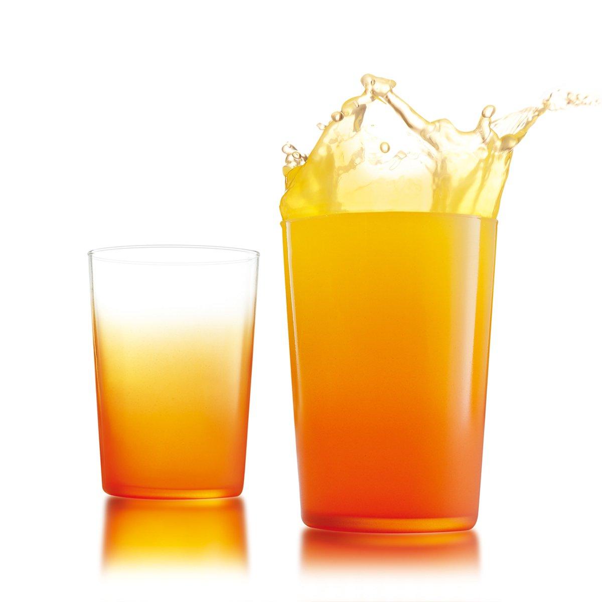 三色果汁_法国进口 渐变三色果汁杯 三色各2只 水杯 玻璃杯