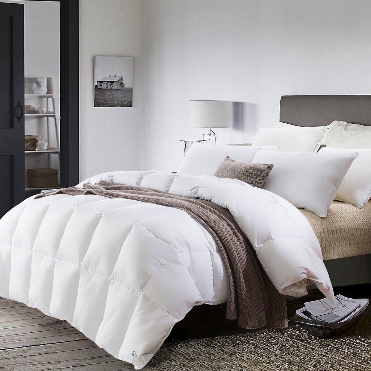 康尔馨五星级酒店全棉静音面料90%/95%白鹅绒填充被子加厚保暖羽绒被6925601522314