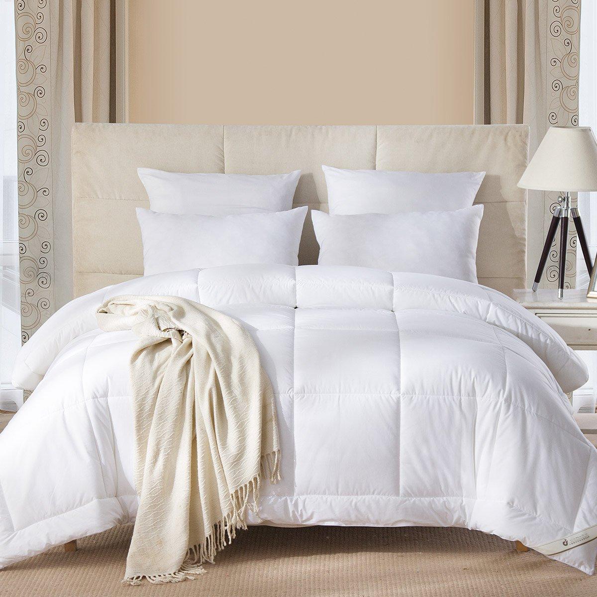 康尔馨五星级酒店全棉绣花整张填充秋冬纤维被芯 柔软贴身被子6925601502880