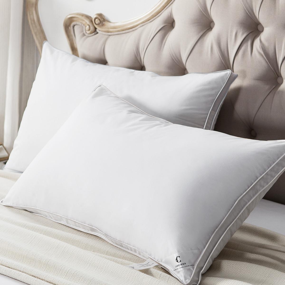 康尔馨五星级酒店枕头全棉面料柔软蓬松高弹透气纤维枕芯6925601503580