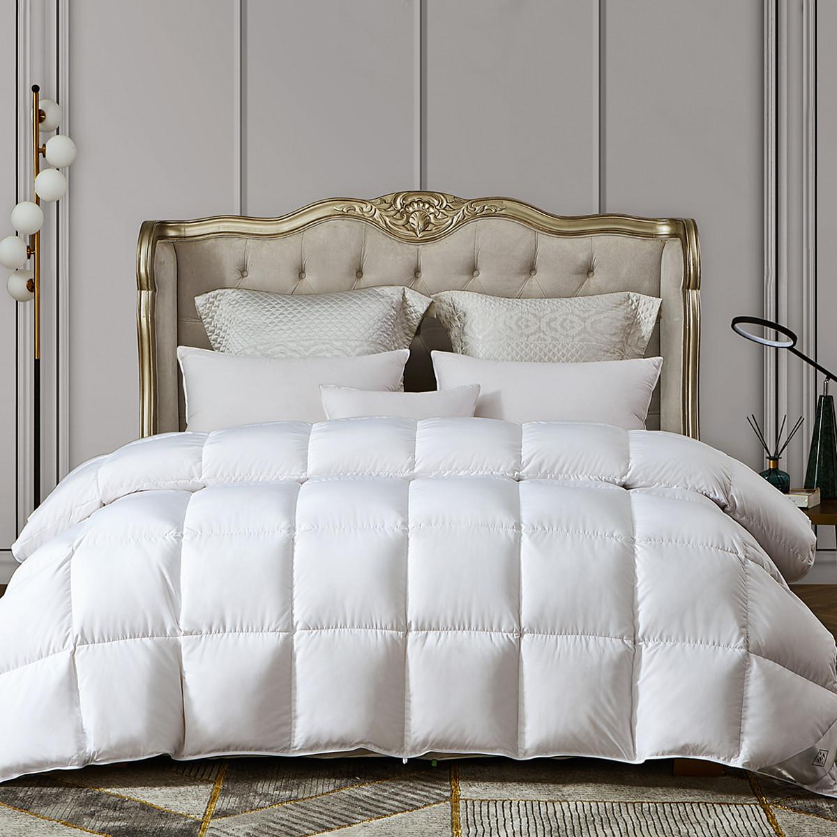 康尔馨世茂希尔顿酒店同款全棉静音面料90%羽绒被贴身保暖被子6925601538100