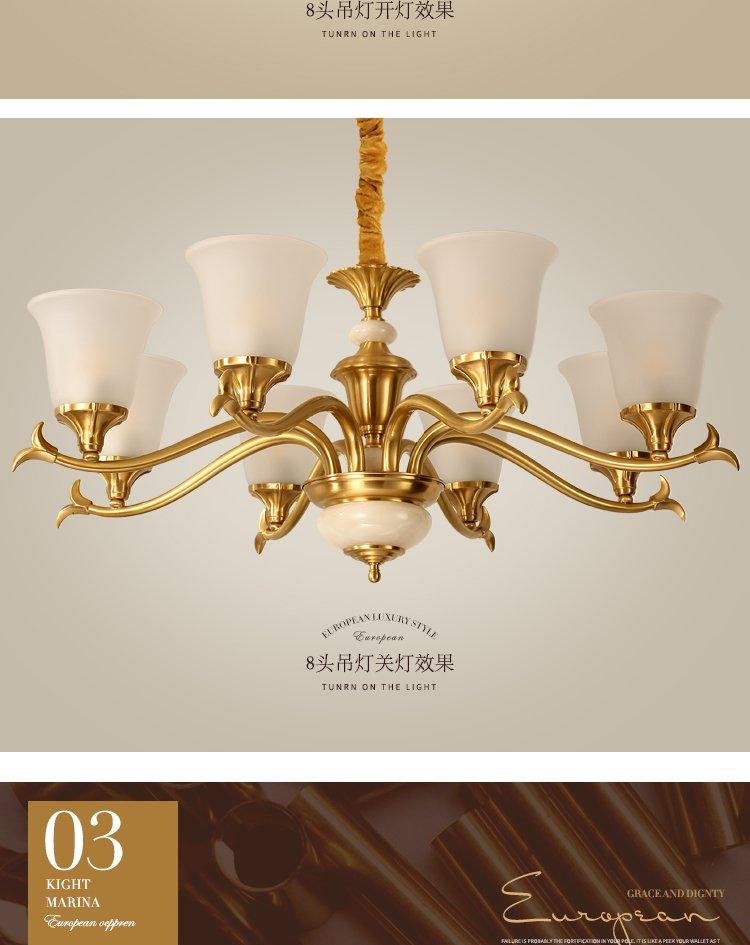 欧式经典玻璃灯饰简约客厅吊灯餐厅卧室别墅