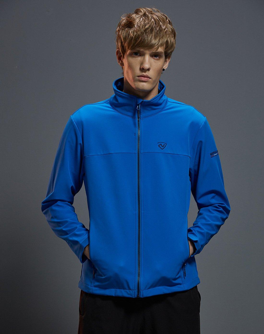 诺诗兰防风保暖 弹力舒适 男式软壳衣外套防风防泼水GF055593宝蓝色