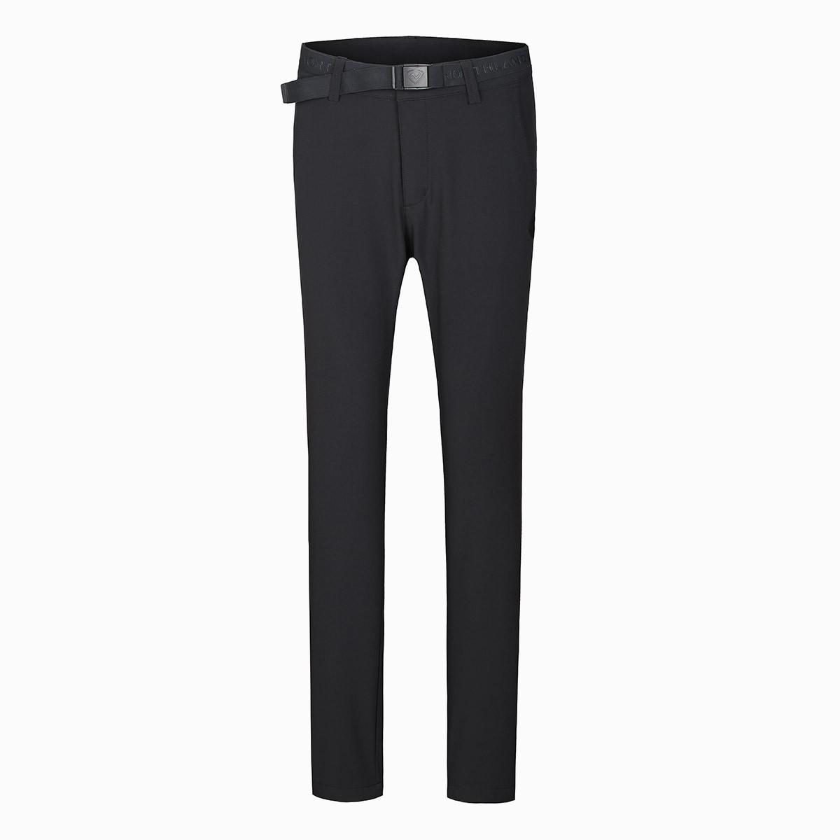 诺诗兰女式风雪长裤 软壳裤女 加绒加厚  防风科技 舒适保暖GF072628乌黑色
