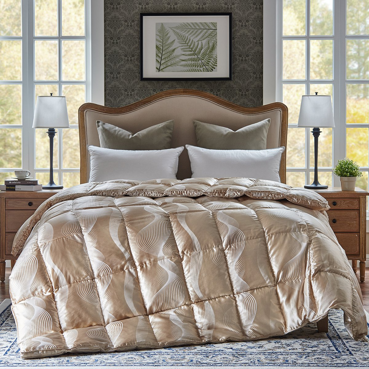 拉芙菲尔1.8米/进口真丝波兰高品质95%白鹅绒羽绒被YYL08115