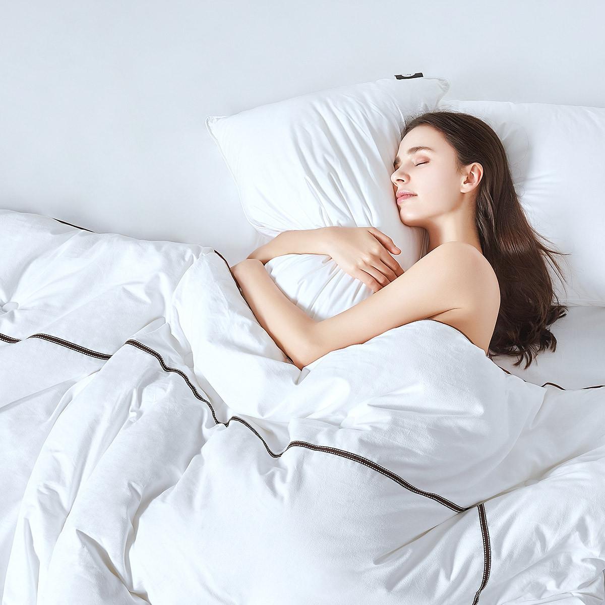 拉芙菲尔五星酒店纯棉双人春秋被全棉纤维被芯冬被保暖加厚被子MYB11232