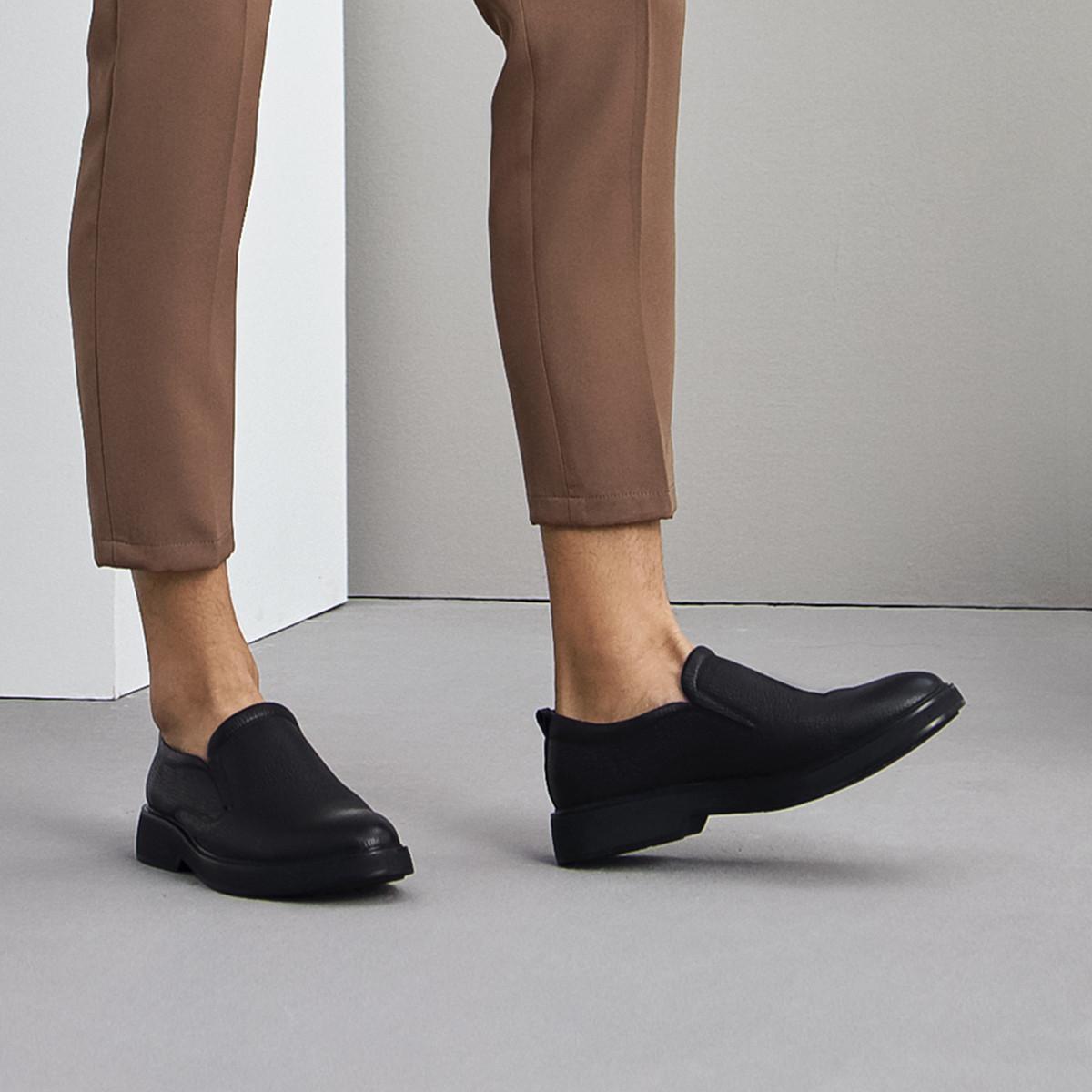 森达森达2019冬季新款专柜同款舒适一脚蹬平底正装男鞋VWD1PC12DU1DM9