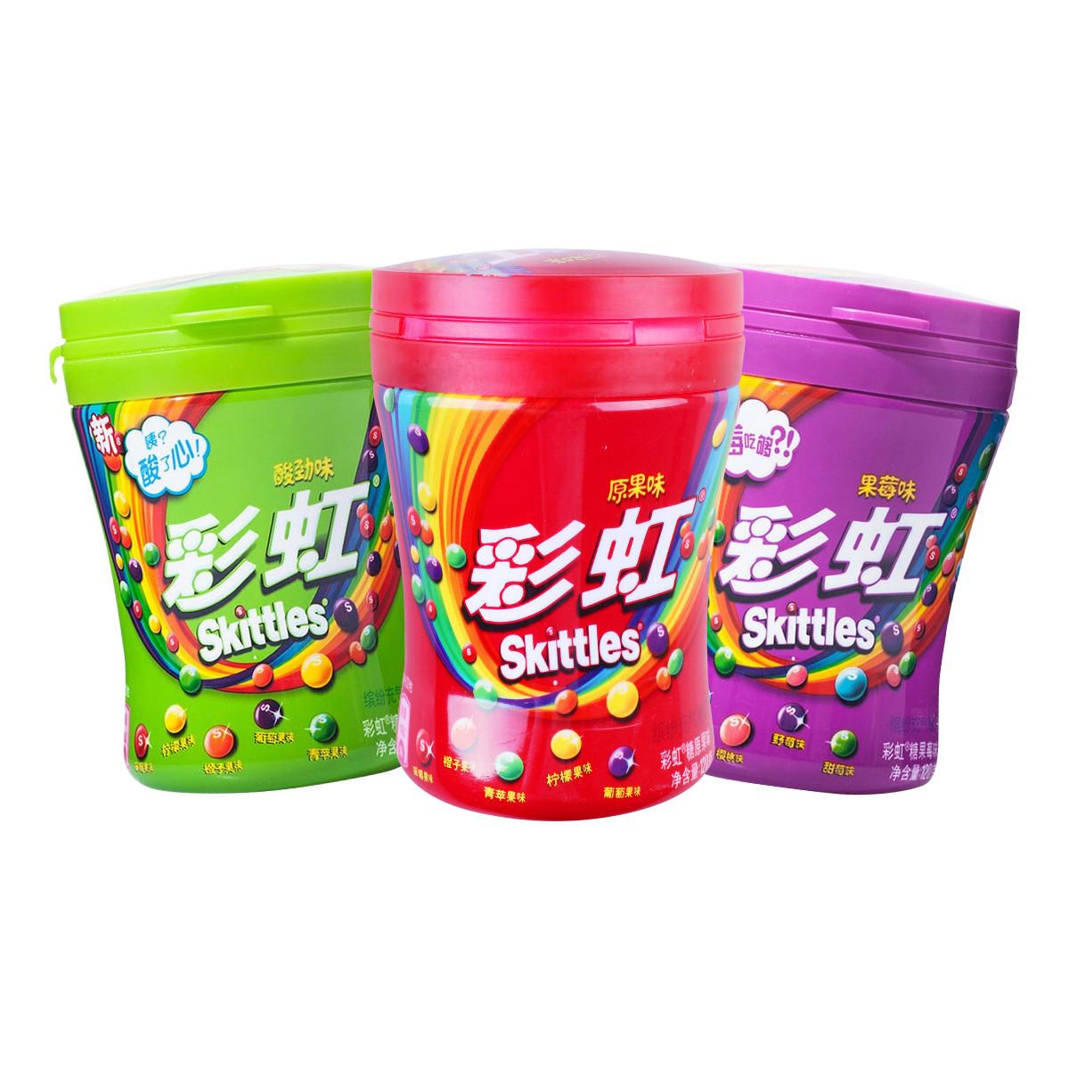 彩虹彩虹糖三种口味糖果3瓶共360g27330204