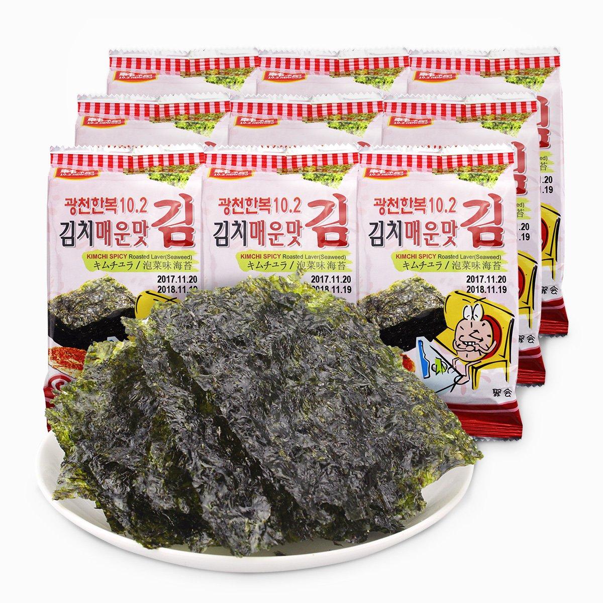 韩福韩国进口 韩福10.2海苔(泡菜风味)13.5克*3OLEAD0003