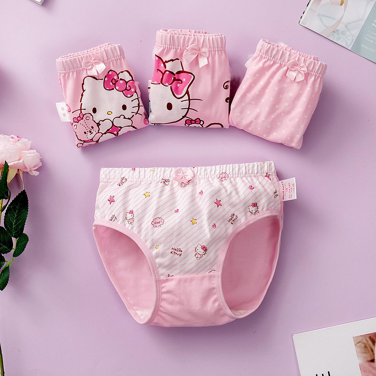 HELLO KITTYHELLO KITTY女童内裤4条装(2三角+2平角)CGKT08249Z