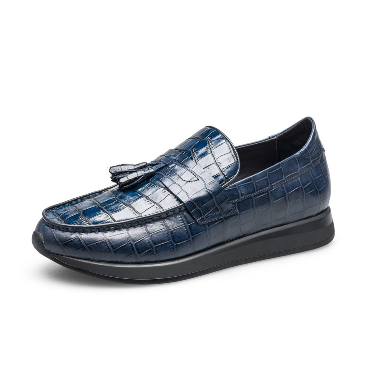 乔比迈凯懒人一脚蹬驾车鞋厚底增高英伦风正装乐福鞋真皮男款商务休闲皮鞋VIPDY5202L0