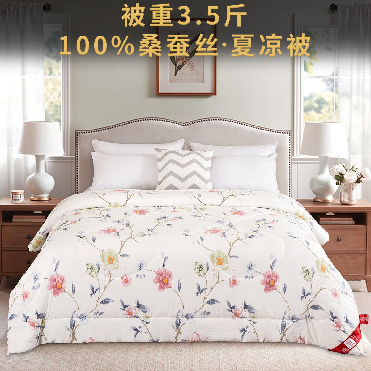 江南古韵2019新款100%桑蚕丝被重3.5斤产地直供春秋冬被子芯cnhk-2