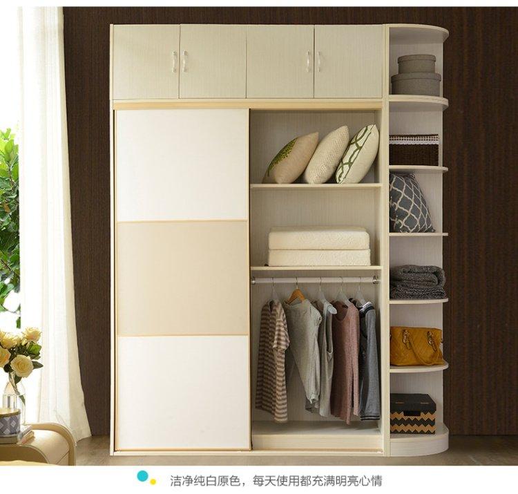 现代简约欧式推拉门衣橱衣柜整体经济型多功能卧室家具