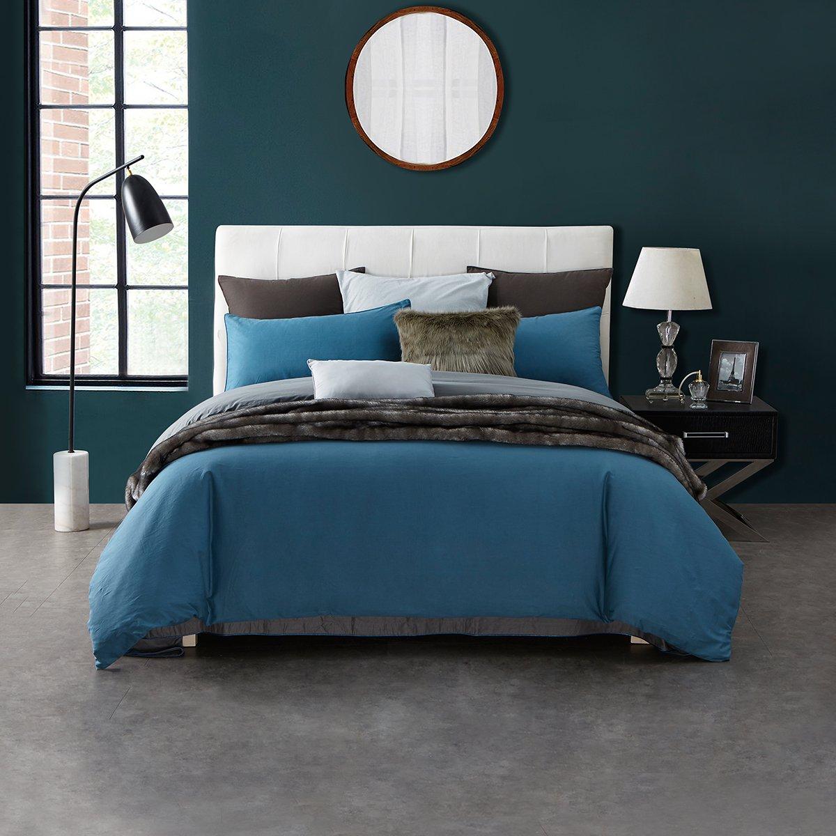 Ramada酒店家纺AB面被套床单式秋冬保暖全棉被单纯色床上用品纯棉四件套BS171010N