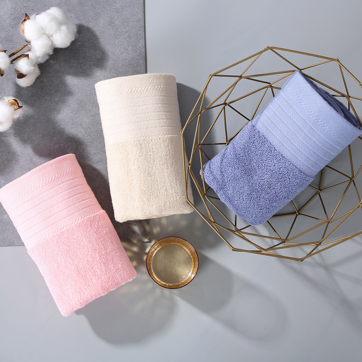 Ramada全棉家用加厚吸水成人洁面巾洗脸毛巾洗澡巾毛巾面巾FT171048