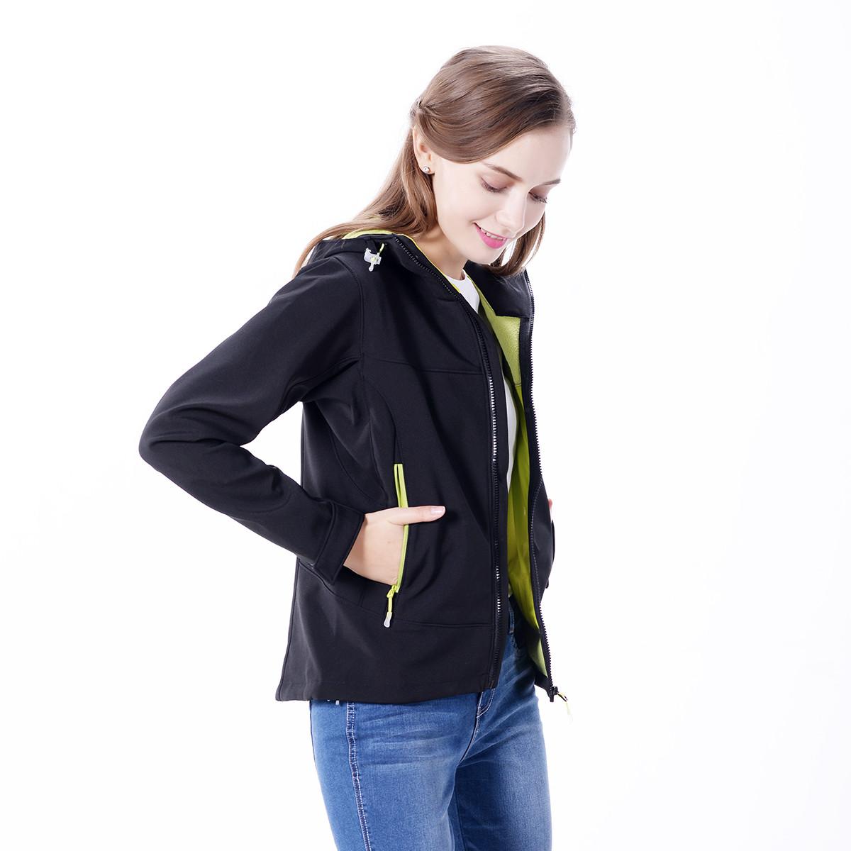 犸凯奴秋季女款运动夹克防泼防风加绒保暖软壳衣MJQ1920010201