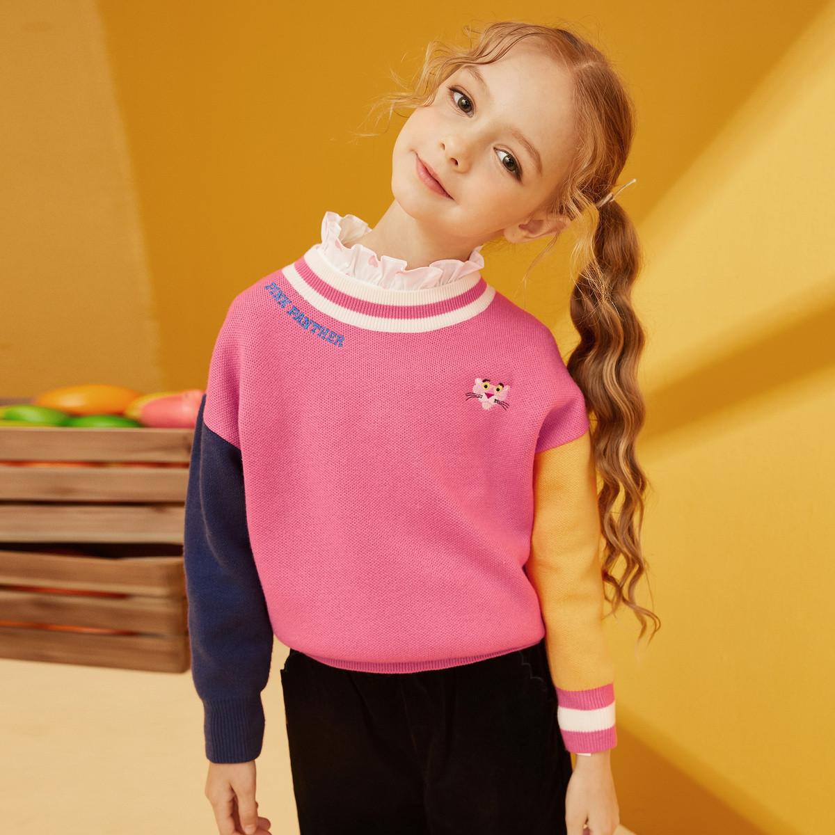 GXG.KIDSGXG童装秋季女童线衫内搭粉红豹联名款12Y220501E800