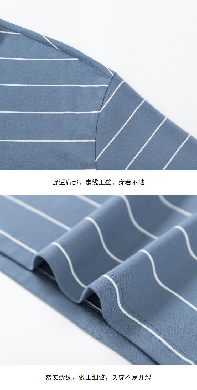 森马2019夏季新款【宽松条纹】圆领打底衫男士短袖t恤男图片