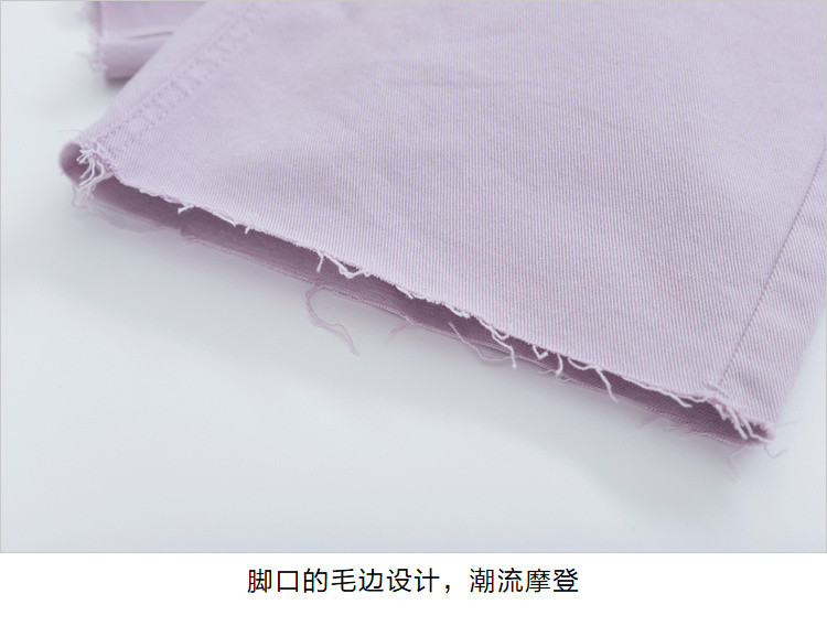 【宽松阔腿裤】森马2019春季新款显瘦裤子潮流毛边阔腿裤女裤图片