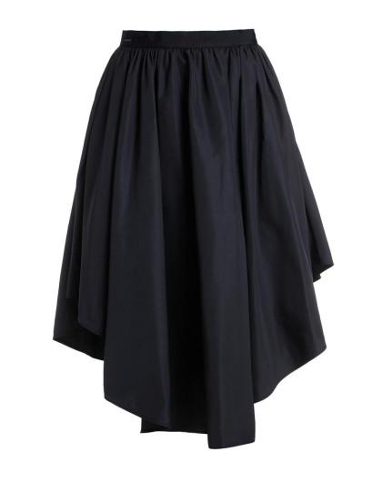 不规则裙摆褶皱半身裙