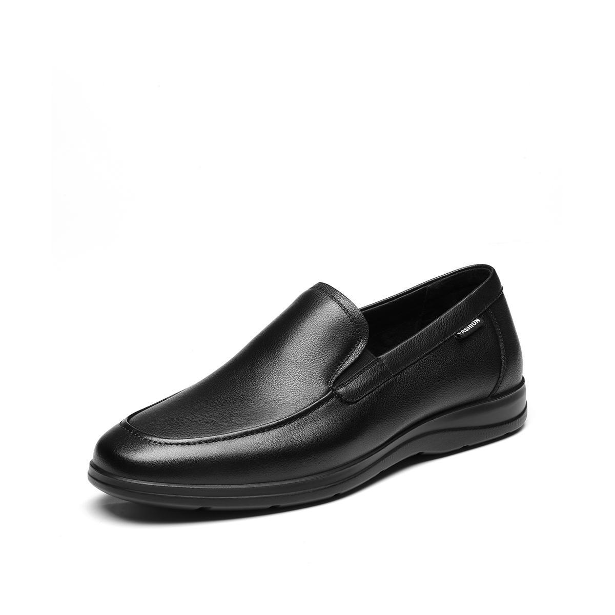 森达森达2020春季新款专柜同款舒适一脚蹬简约平底商务男鞋V8Q1DH06DU1AM0