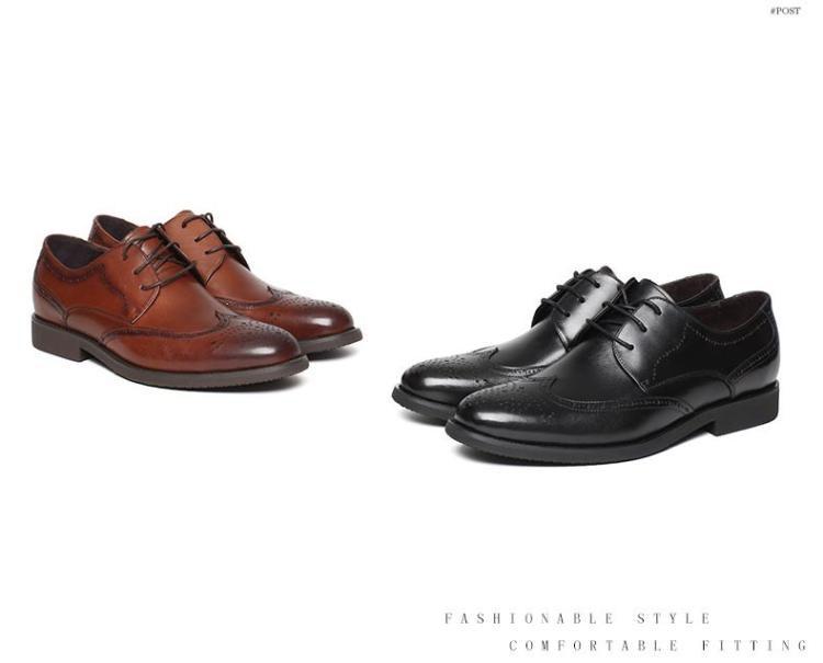 森达冬季专柜同款商务正装男皮鞋英伦复古系带
