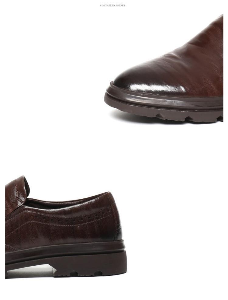 森达冬季专柜同款时尚商务经典舒适牛皮男正装鞋