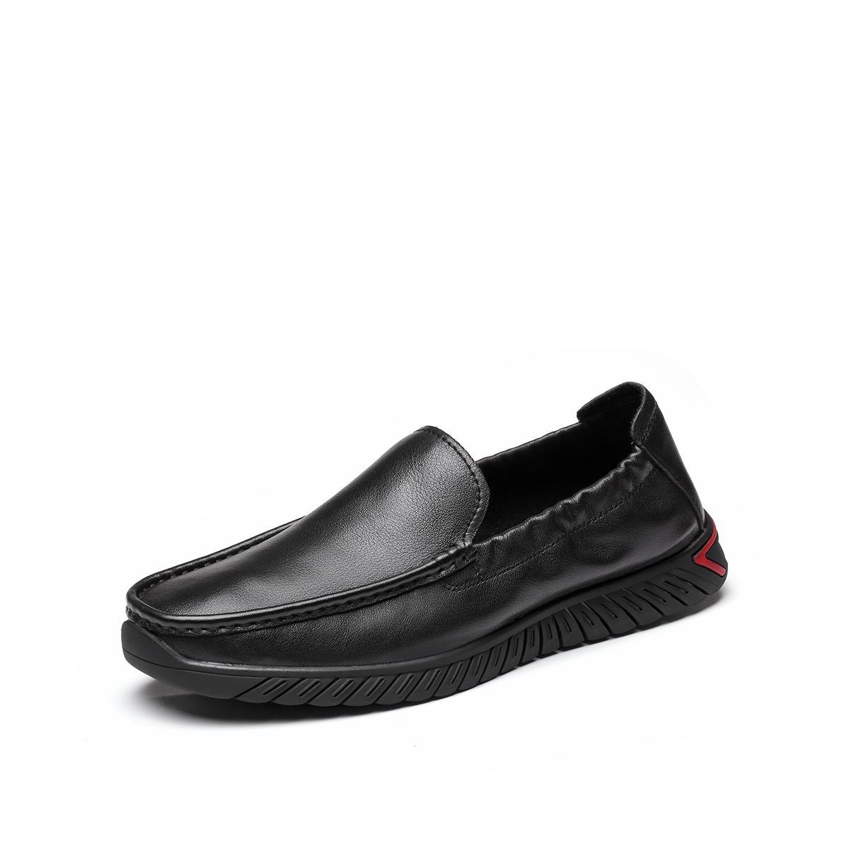 森达森达2020春季新款专柜同款简约一脚蹬舒适休闲男豆豆鞋VGL1DP07DU1AM0