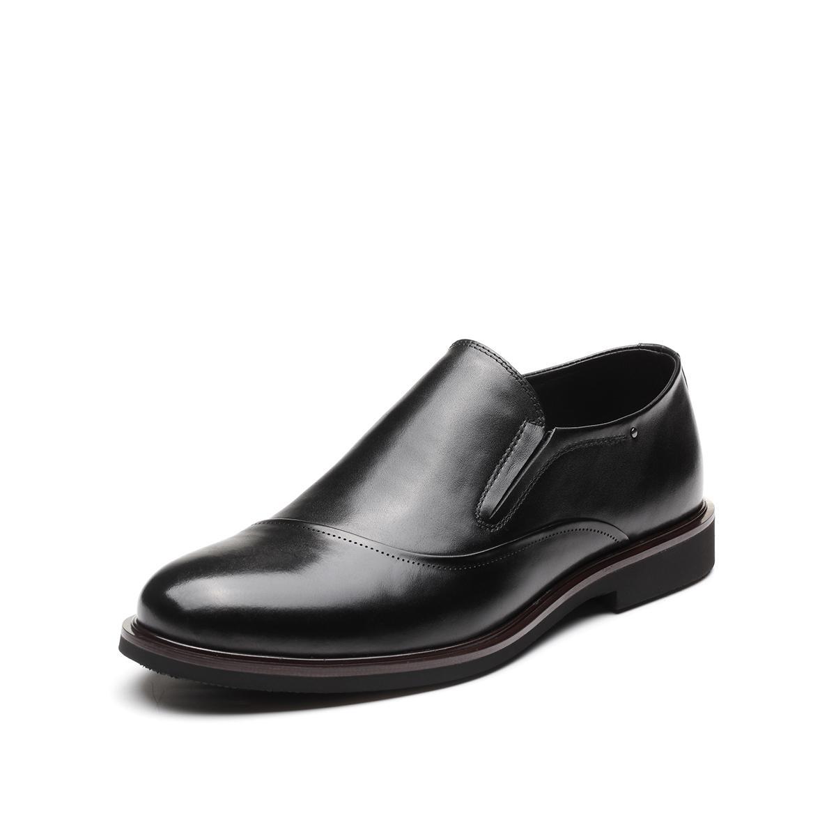 森达森达男鞋2019新款专柜同款简约舒适一脚蹬男士皮鞋VGK1DU22DU1AM9