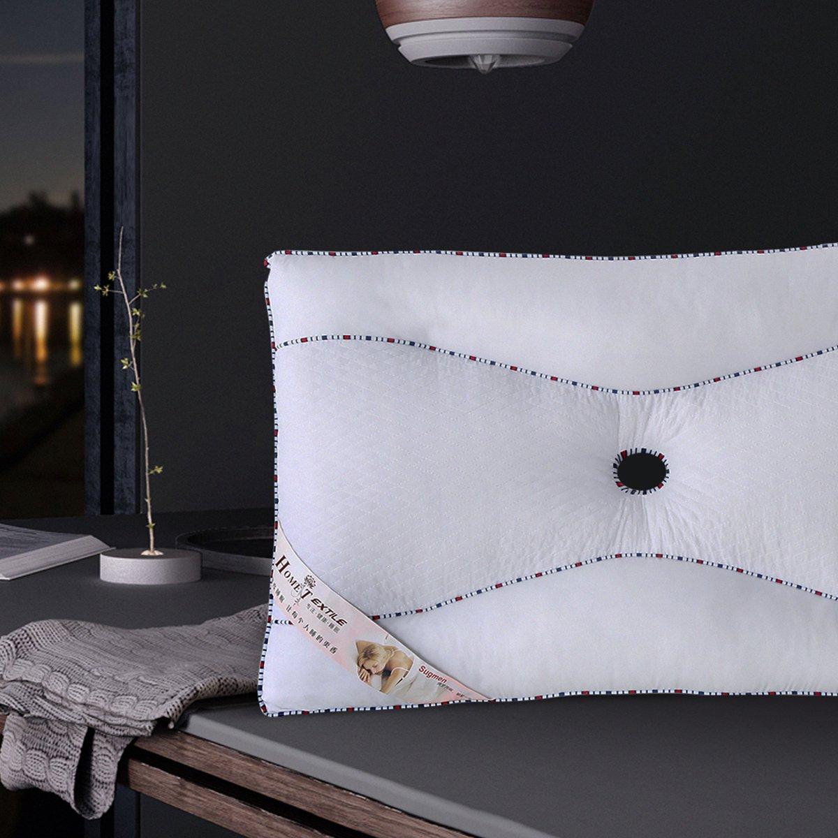 Ramada全棉透气珍珠棉成人护颈椎枕头床上用品学生宿舍枕头芯枕芯枕头COLOR白色