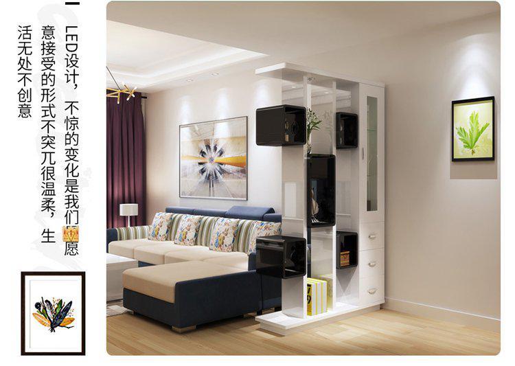 简约客厅 镂空双面隔断屏风门厅柜置物架