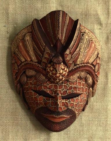 壁虎小屋家居巴厘岛木雕木彩绘面具脸谱壁饰挂饰