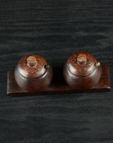 壁虎小屋家居巴厘岛特色木雕调料盒调味罐tbs-34