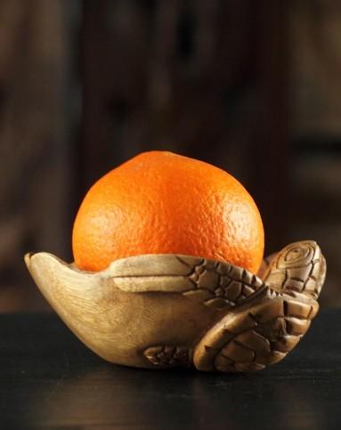 巴厘岛乌龟木雕果盘钥匙盘零食盘