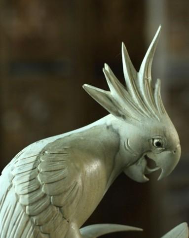 壁虎小屋家居巴厘岛动物鹦鹉玉米木雕灵性鸟bs-26