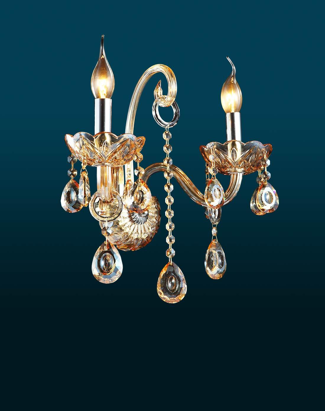 欧塞洛斯osairous灯饰专场欧式蜡烛水晶双头壁灯
