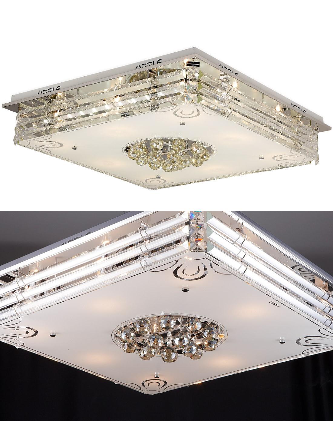 欧普照明专场顶级k9水晶灯分段led客厅灯天鹅湖12-hd图片